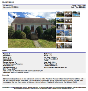 Sold in Weymouth | John Connolly Real Estate